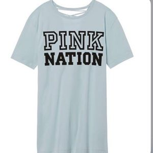 Pink Nation back laced top